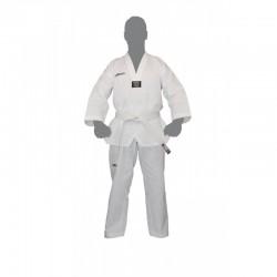 Dobok de TaeKwonDo col blanc gaufré brodé TaeKwonDo